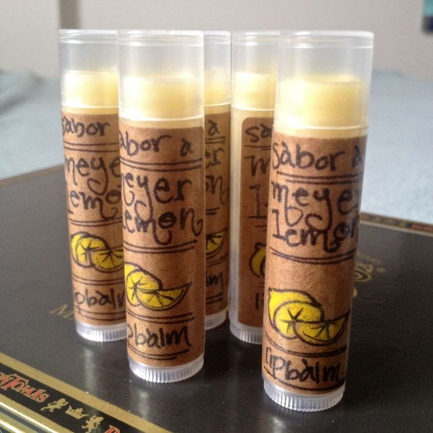 lip balm sabor a meyer lemon