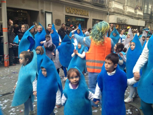 These babies are all dressed up as rain drops for Carnaval because nothing's more Galician than rain